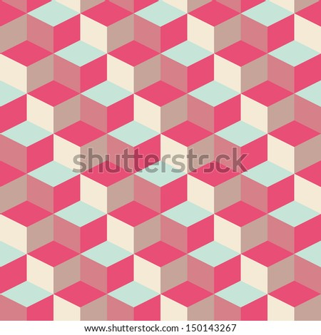 abstract cubic geometric pattern background for design - stock vector