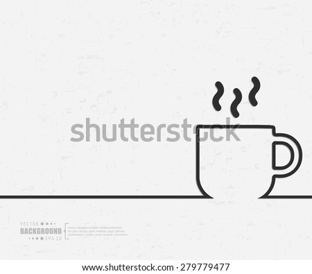 Abstract cup vector background. For web and mobile applications, illustration template design, creative business info graphic, brochure, banner, presentation, concept poster, cover, booklet, document. - stock vector