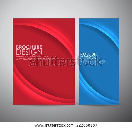 Abstract curve line vector brochure business design template or roll up.  - stock vector