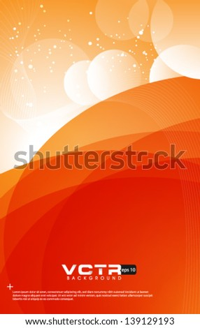 Abstract Curve Lines  - eps10 Background - stock vector