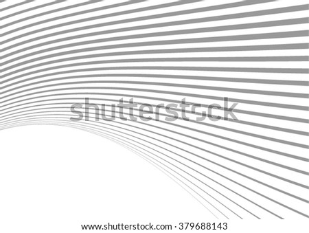 Abstract Curved Lines. Seamless Geometric stripes Design. - stock vector