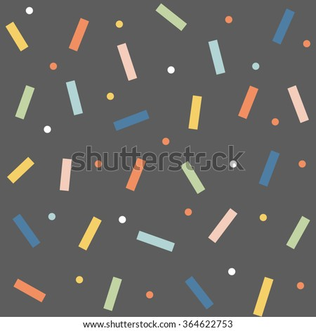 Abstract cute colorful topping, dripping with yellow blue sky green orange pink design on grey black background, pattern, seamless, wallpaper. Vector image, vector art, vector design - stock vector