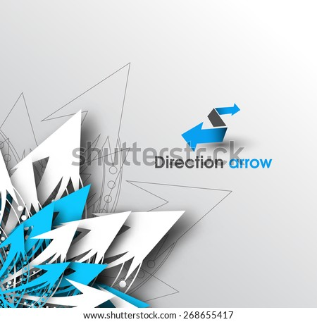 Abstract 3D Arrow Graphics Background - stock vector