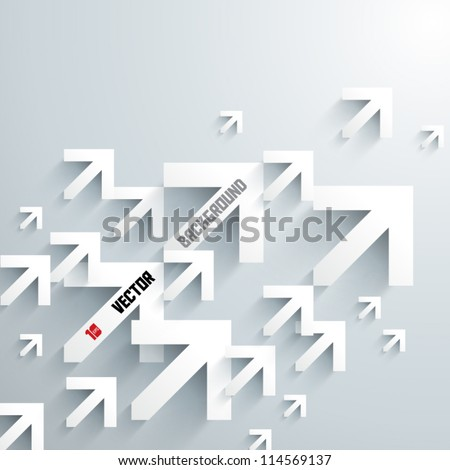 Abstract 3D Arrows Design - stock vector
