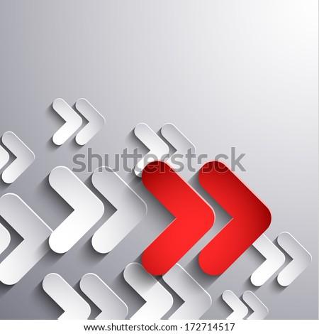 Abstract 3d arrows moving forward - eps10 vector - stock vector
