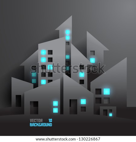 Abstract 3D Buildings - stock vector
