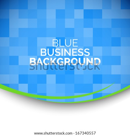 Abstract 3D business blue background. - stock vector