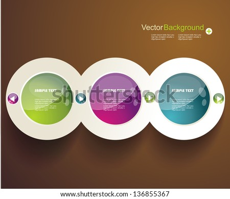 Abstract 3d circles background design - stock vector