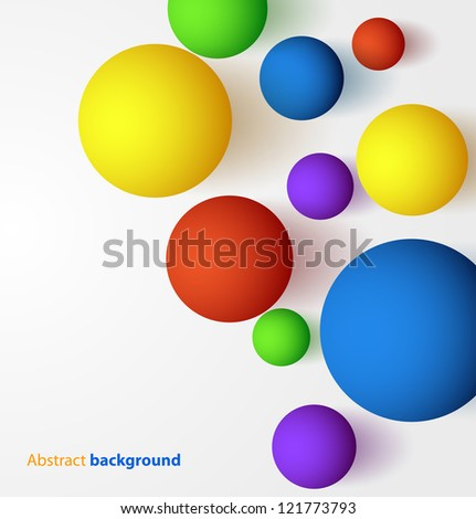 Abstract 3D colorful spheric background. Vector illustration - stock vector