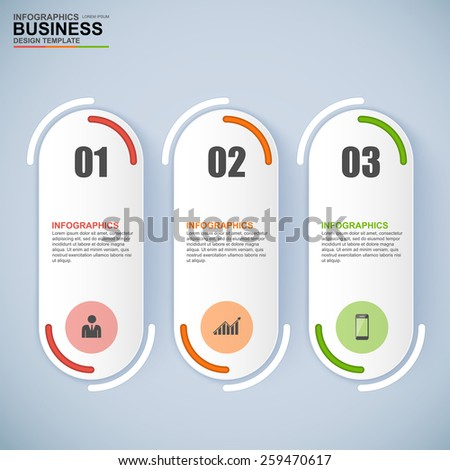 Abstract 3D digital business Infographic - stock vector