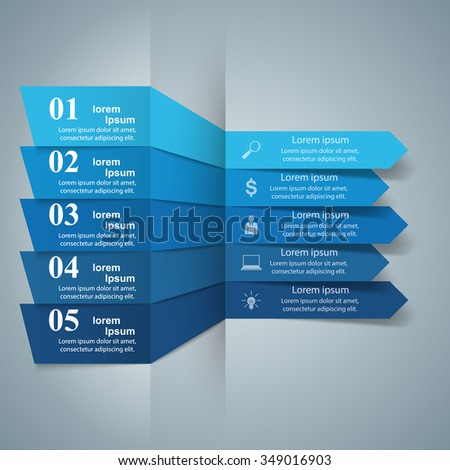 Abstract 3D digital illustration Infographic. - stock vector
