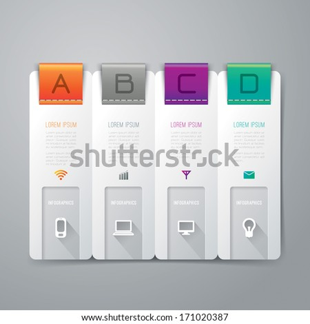 Abstract 3D digital illustration Infographic. Vector illustration can be used for workflow layout, diagram, number options, web design. - stock vector