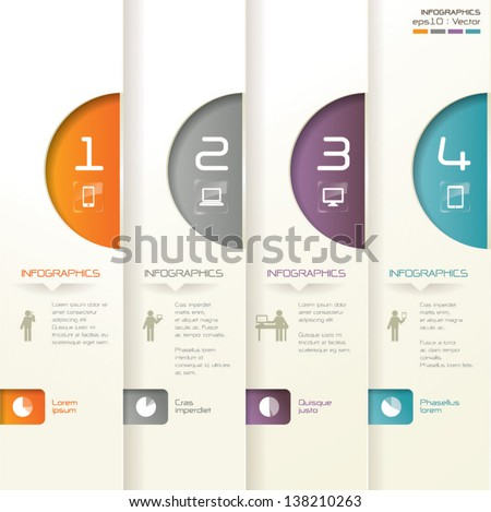 Abstract 3D digital illustration Infographics. - stock vector