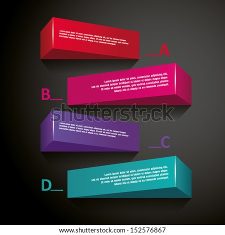 Abstract 3d frames - stock vector