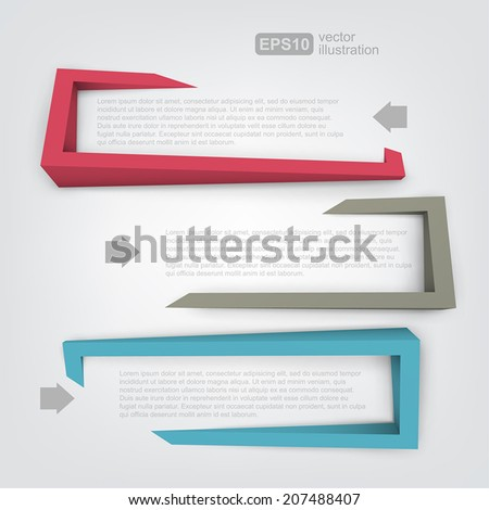 Abstract 3d frames for text - stock vector