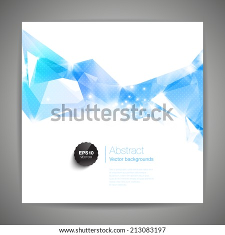 Abstract 3D geometric colorful background. - stock vector