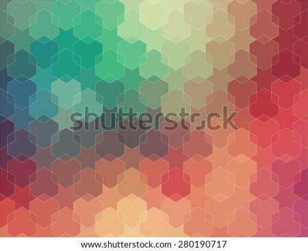 Abstract 2D geometric colorful background for web - stock vector