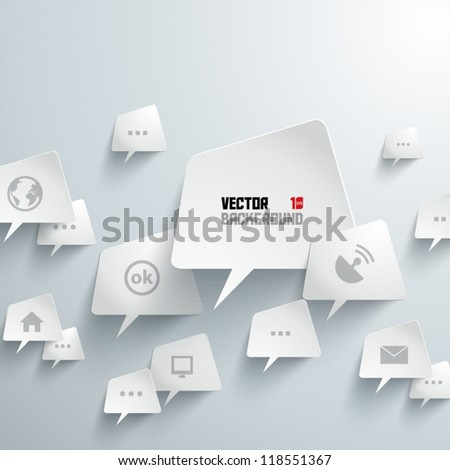 Abstract 3D Geometrical Design Bubbles - stock vector