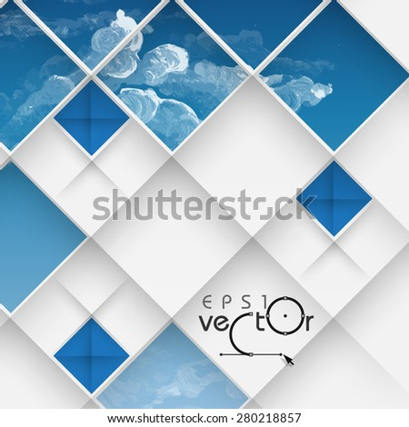 Abstract 3D Geometrical Design.  Vector Illustration. Eps 10 - stock vector