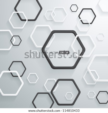 Abstract 3D Geometrical Round Corners Design - stock vector