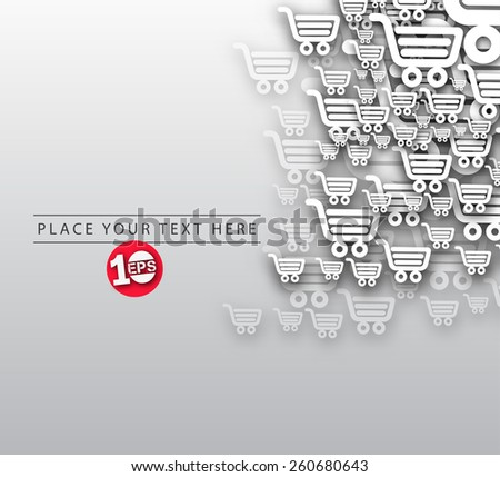Abstract 3D Geometrical Shopping Design, eps10 vector - stock vector