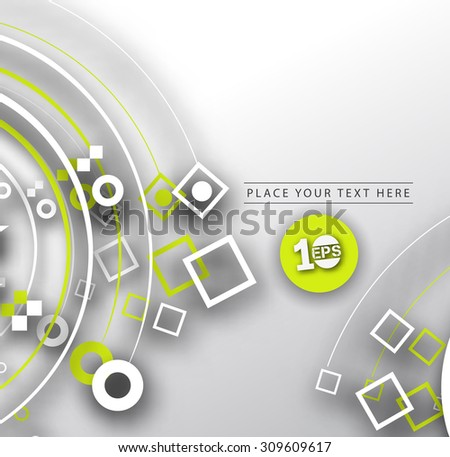 Abstract 3D Geometrical Square Design, eps10 vector - stock vector