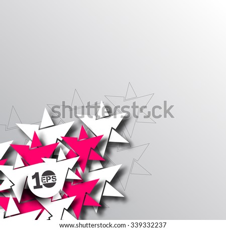 Abstract 3D Geometrical Star Design, eps10 vector - stock vector