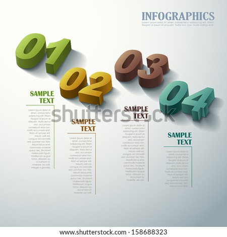 abstract 3d infographic elements - stock vector