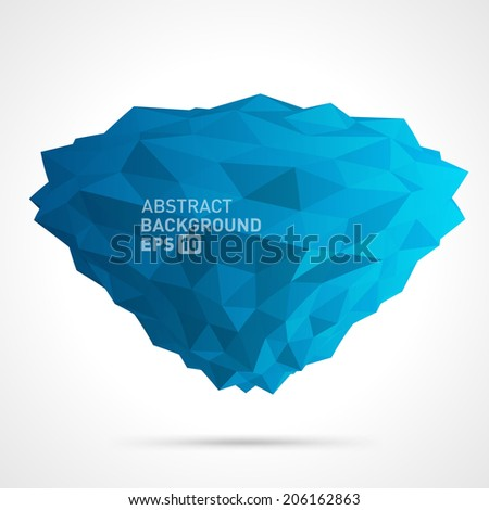 Abstract 3d origami polygonal shape vector design element  - stock vector