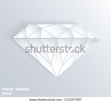 Abstract 3d paper diamond shape. Vector eps10 background. - stock vector