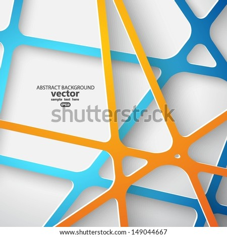 Abstract 3D Paper Graphics. Vector illustration for your business presentations. - stock vector