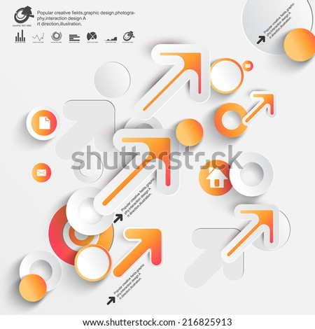 Abstract 3D Paper Infographics - stock vector