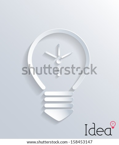 Abstract 3d paper light bulb. Vector eps10. - stock vector