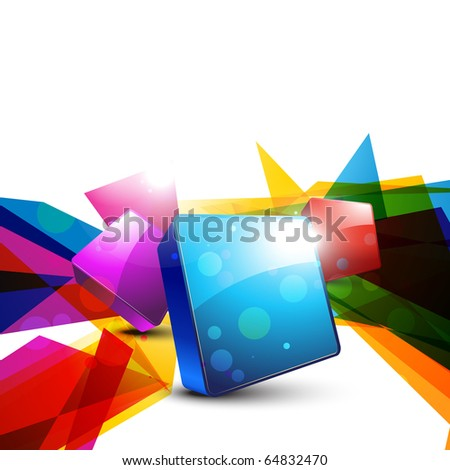 abstract 3d shape design art - stock vector