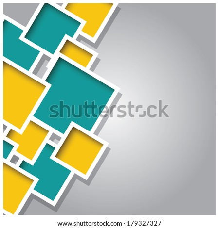 Abstract 3d square background, colorful tiles, geometric, vector illustration - stock vector