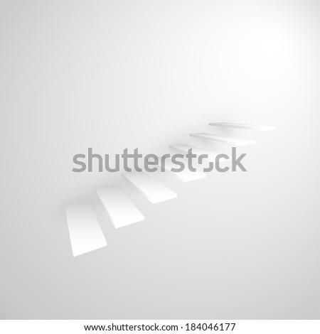 abstract 3d staircase - stock vector