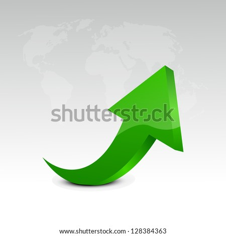 Abstract 3D statistics, business growth background showing by an arrow. EPS 10. - stock vector