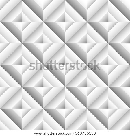 Abstract 3d surface, revetment background. Repeatable pattern. - stock vector
