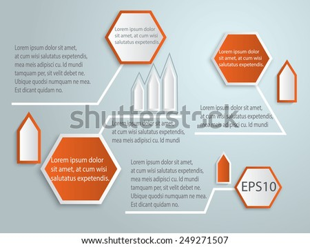 abstract 3d tag infographics vector. Illustration eps10 - stock vector