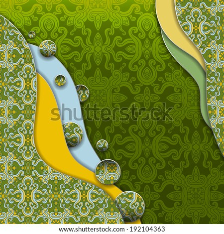 Abstract 3D vector background. Eps-10. - stock vector