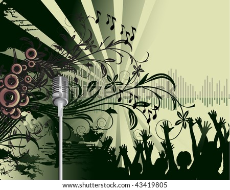 abstract dance party poster - stock vector