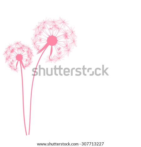 Abstract Dandelion Background Vector Illustration EPS10 - stock vector