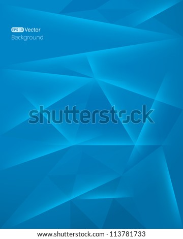 Abstract dark blue background - stock vector