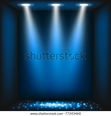 Abstract dark blue background. Vector eps10 illustration - stock vector
