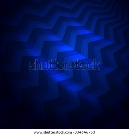 Abstract dark blue crooked stripes vector background. - stock vector