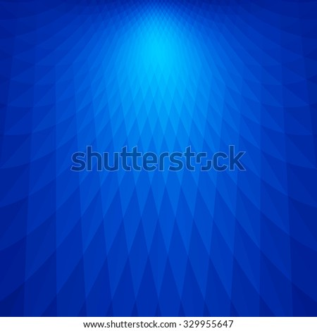 Abstract dark blue perspective background - stock vector