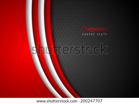 Abstract dark corporate background. Vector illustration - stock vector