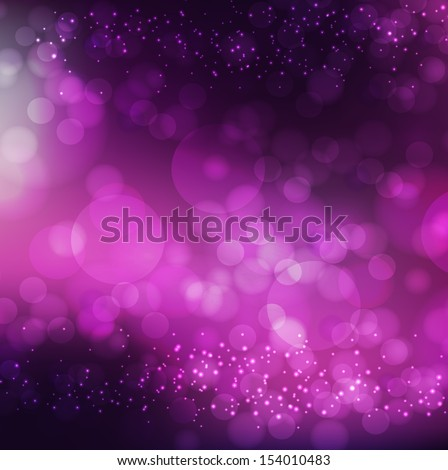 Abstract dark purple background with bokeh circles. Christmas card. - stock vector