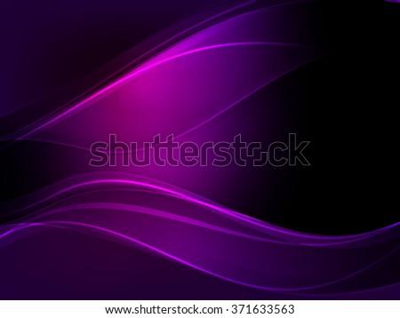 Abstract dark purple wave vector background.  - stock vector