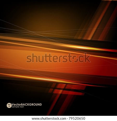 Abstract dark shape design concept. Vector illustration - stock vector